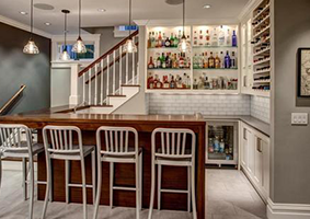 modart basement wet-bar